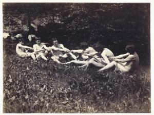 Males Nudes in a Seated Tug-Of-War, C.1883 (Albumen Print) by Thomas Cowperthwait Eakins