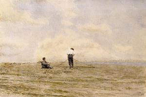 Mending the Net, 1882 by Thomas Cowperthwait Eakins