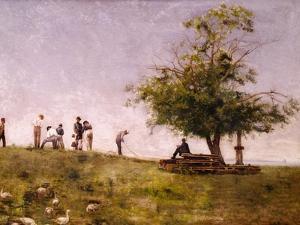 Mending the Net by Thomas Cowperthwait Eakins