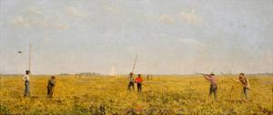 Pushing for Rail, 1874 by Thomas Cowperthwait Eakins