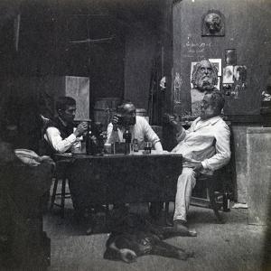Samuel Murray, Thomas Eakins and William O'Donovan in Eakins's Chestnut Street Studio, c.1891-2 by Thomas Cowperthwait Eakins