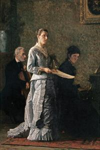 Singing a Pathetic Song by Thomas Cowperthwait Eakins
