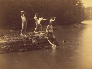 Study for the Swimming Hole, 1883 by Thomas Cowperthwait Eakins