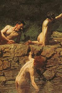 Swimming Hole, 1885 by Thomas Cowperthwait Eakins