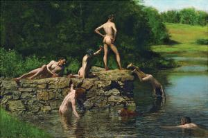 Swimming by Thomas Cowperthwait Eakins