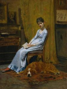 The Artist's Wife and His Setter Dog, c.1884-89 by Thomas Cowperthwait Eakins