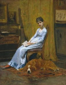 The Artist's Wife and His Setter Dog by Thomas Cowperthwait Eakins