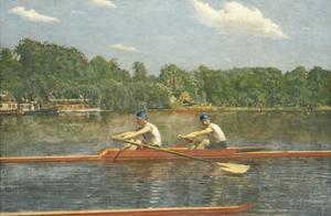 The Biglin Brothers Racing by Thomas Cowperthwait Eakins