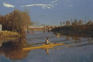 The Champion Single Sculls (Max Schmitt in a Single Scull), 1871 by Thomas Cowperthwait Eakins