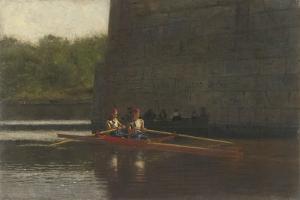 The Oarsmen, 1874 by Thomas Cowperthwait Eakins