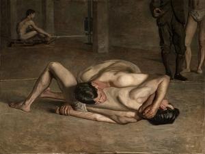Wrestlers, 1899 by Thomas Cowperthwait Eakins