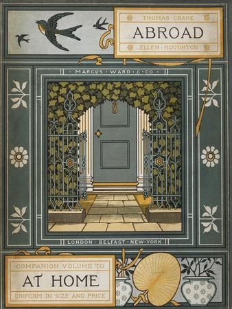 Back Cover Of 'Abroad'. Coloured Illustration Showing a Door.
