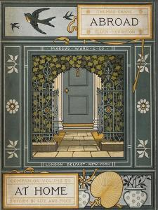 Back Cover Of 'Abroad'. Coloured Illustration Showing a Door. by Thomas Crane