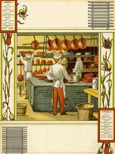 Chefs in French hotel kitchen by Thomas Crane