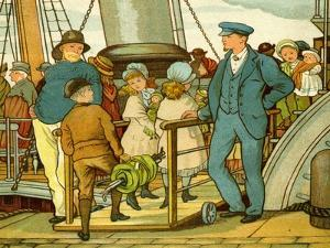 Crossing the channel and boarding the ferry by Thomas Crane