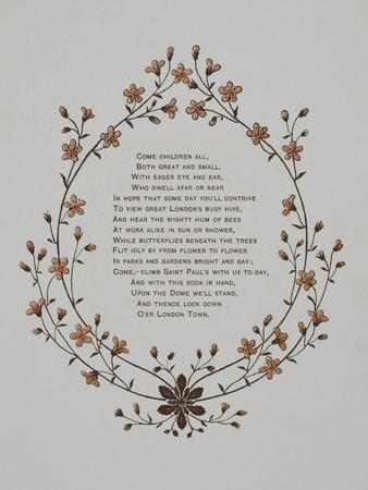 Floral Decoration and a Verse. Illustration From London Town'