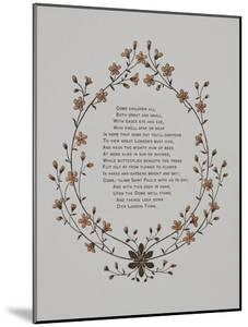 Floral Decoration and a Verse. Illustration From London Town' by Thomas Crane