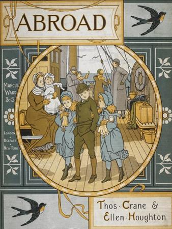 Front Cover Of 'Abroad'. Coloured Illustration Showing a Family On the Deck Of a Ship