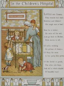 In the Children's Hospital. a Nurse Attending a Sick Child. Illustration From London Town' by Thomas Crane