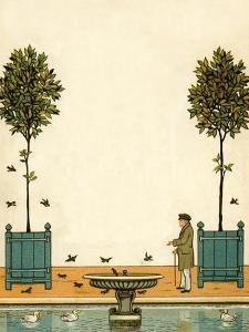 In the Tuileries Gardens - les jardins by Thomas Crane
