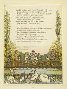 Lines of Verse Illustrated by an Image of People on a Bridge by Thomas Crane