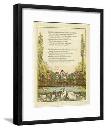 Lines of Verse Illustrated by an Image of People on a Bridge
