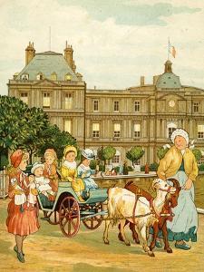 Luxembourg Gardens, children's goat ride by Thomas Crane