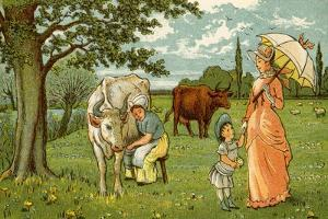 Milking cow for chocolate and milk by Thomas Crane