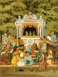 Punch and Judy show in In the Tuileries Gardens - le jardin des Tuileries by Thomas Crane