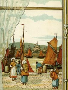 Quay at Boulogne by Thomas Crane