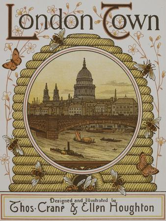 Title Page, Depicting St. Paul's Cathedral. Illustration From London Town'