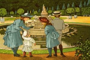 Versailles gardens, with fountains by Thomas Crane
