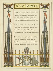 Verse About the Tower of London with Images of Armour and Weaponry by Thomas Crane