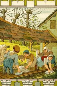 Washerwomen of Caen by Thomas Crane
