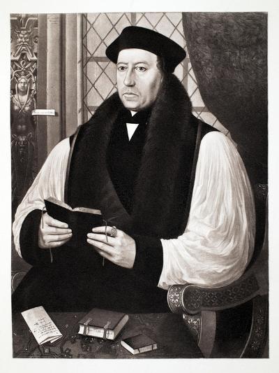 Thomas Cranmer, Archbishop of Cantebury, 1546, Pub. 1902 (Collotype)-Gerlach Flicke-Giclee Print