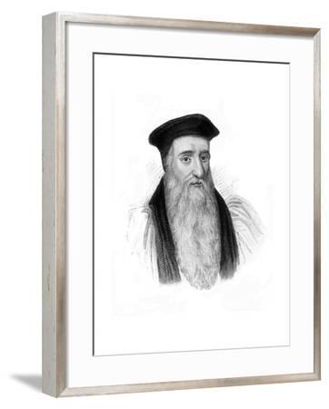 Thomas Cranmer, Archbishop of Canterbury--Framed Giclee Print