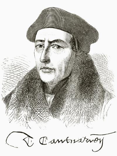 Thomas Cranmer, from 'The National and Domestic History of England' by William Hickman Smith…--Giclee Print