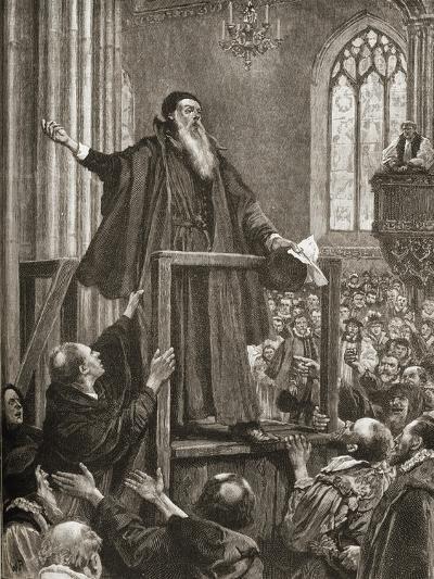 Thomas Cranmer's (1489-1556) Last Testimony--Giclee Print