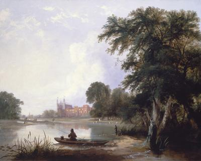 Fishing on the River Thames Near Eton College