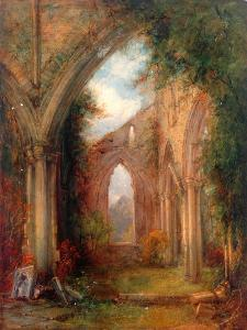 Part of the Ruins of Tintern Abbey by Thomas Creswick