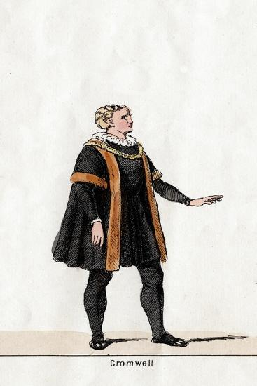 Thomas Cromwell, Costume Design for Shakespeare's Play, Henry VIII, 19th Century--Giclee Print