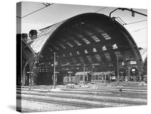 A View of a Train Station in the City of Rome by Thomas D. Mcavoy