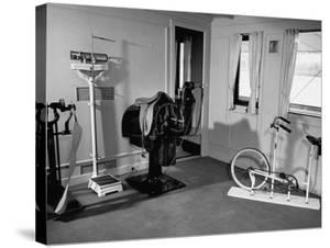 """A View Showing the Exercise Room on President Rafael L. Trujillo's Yacht """"Ramfis"""" by Thomas D. Mcavoy"""