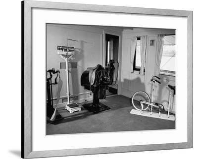 """A View Showing the Exercise Room on President Rafael L. Trujillo's Yacht """"Ramfis"""""""