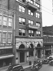 A View Showing the Exterior of the North Carolina Mutual Life Insurance Co by Thomas D. Mcavoy