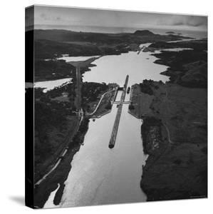 Aerial View of the Panama Canal by Thomas D. Mcavoy