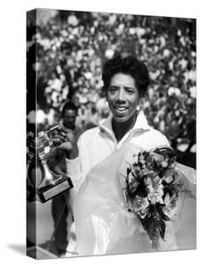 Althea Gibson Holding the Suzanne Lenglen Cup After Winning the French Title by Thomas D. Mcavoy