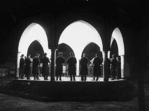 Band Seen Through Triple Archway as it Plays Dinner Music for Bey of Tunis at Palace by Thomas D. Mcavoy