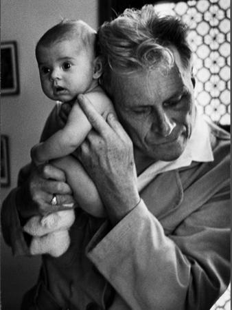 Blind Doctor Albert A. Nast Holding Ear to Back of 3 Month Old Instead of Using a Stethoscope by Thomas D. Mcavoy