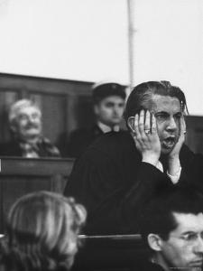 Defense Attorney Emile Pollack Pleading at Digne Court During Defense of Client Gaston Dominici by Thomas D. Mcavoy